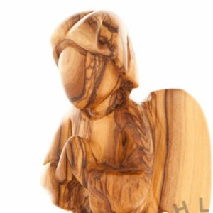 Hand Carved Wood Kneeling Angel - Statuettes - Bethlehem Handicrafts