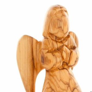 Hand Carved Angel Praying - Statuettes - Bethlehem Handicrafts