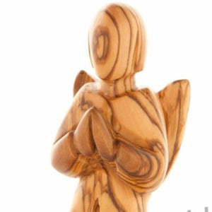 Wood Carved Angel Praying - Statuettes - Bethlehem Handicrafts