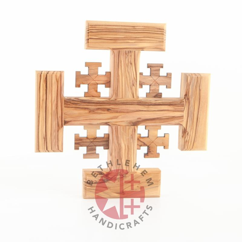 Jerusalem's Wood Cross - Wall Hangings - Bethlehem Handicrafts