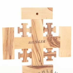 Jerusalem's Wooden Cross - Wall Hangings - Bethlehem Handicrafts