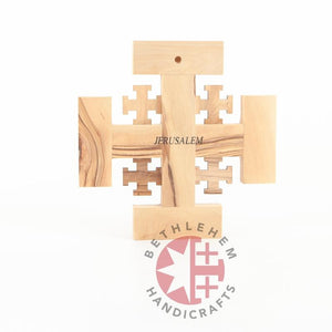 Handmade Jerusalem Wooden Cross - Wall Hangings - Bethlehem Handicrafts