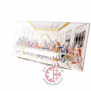 Silver Plated Icon of the Last Supper - Wall Hangings - Bethlehem Handicrafts