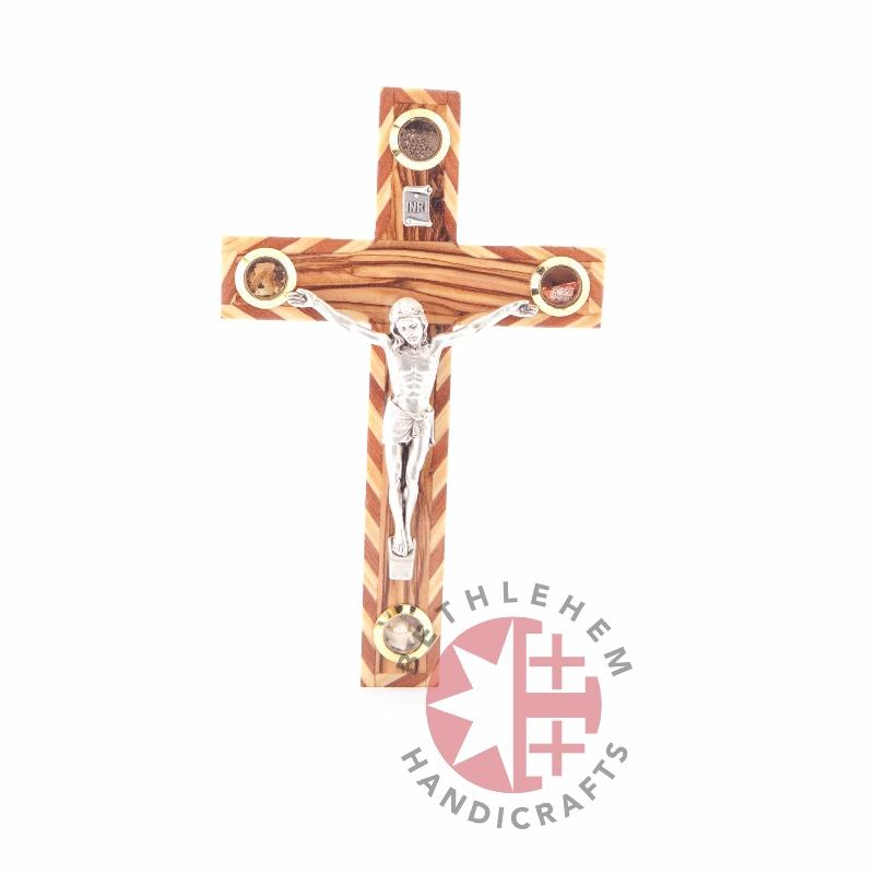 Olive Wooden Crucifix - Wall Hangings - Bethlehem Handicrafts