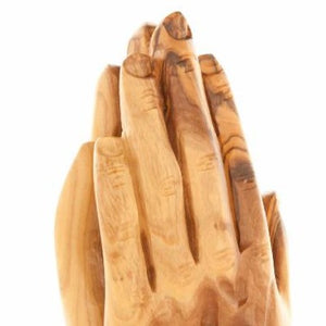Olive Wood Praying Hands Statue - Statuettes - Bethlehem Handicrafts