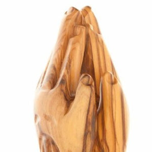 Wooden Praying Hands Statue - Statuettes - Bethlehem Handicrafts