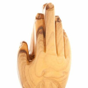 Wooden Praying Hands Statue
