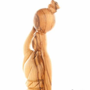 The Samaritan Woman at the Well (Olive Wood Hand Carved Sculpture) - Statuettes - Bethlehem Handicrafts