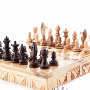 Carved Wooden Chess Set - Statuettes - Bethlehem Handicrafts