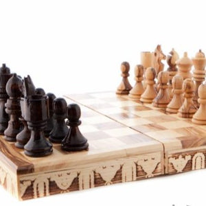 Hand Carved Chess Set - Statuettes - Bethlehem Handicrafts