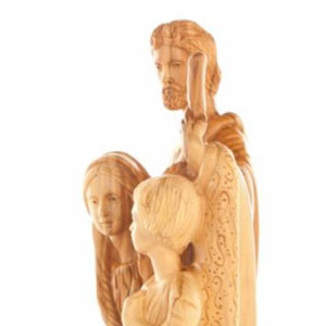 Hand Carved Statue of the Holy Family - Statuettes - Bethlehem Handicrafts