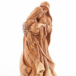 Intimate Holy Family (Olive Wood Statue) - Statuettes - Bethlehem Handicrafts