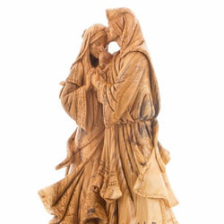 Olive Wood Adoring Holy Family Masterpiece Statue - Statuettes - Bethlehem Handicrafts