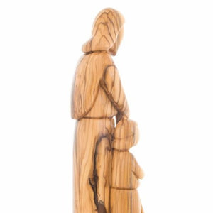 Olive Wood Carving of Saint Joseph with Young Jesus Christ - Statuettes - Bethlehem Handicrafts
