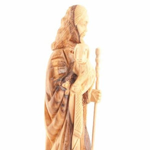 Hand Carved Wood Good Shepherd - Statuettes - Bethlehem Handicrafts