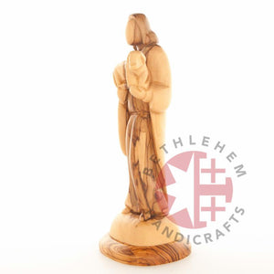 Hand Carved Wooden Good Shepherd - Statuettes - Bethlehem Handicrafts