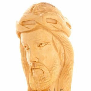 Wooden Bust of Jesus' Head - Statuettes - Bethlehem Handicrafts