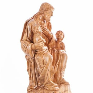Wood Jesus With The Children - Statuettes - Bethlehem Handicrafts