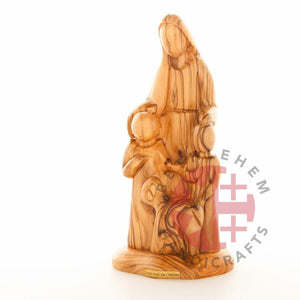 Hand Carved Jesus With The Children - Statuettes - Bethlehem Handicrafts