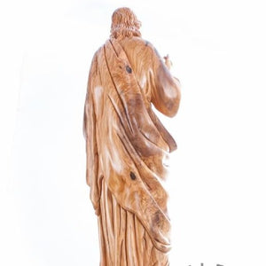 Hand Carved Wood Jesus Christ Blessing's statue - Statuettes - Bethlehem Handicrafts
