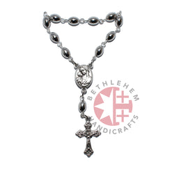 Silver Plated Finger Rosary with Roman Cross