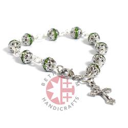 Green Crystal Prayer Rosary 6mm beads