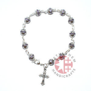Light Purple Crystal Prayer Rosary