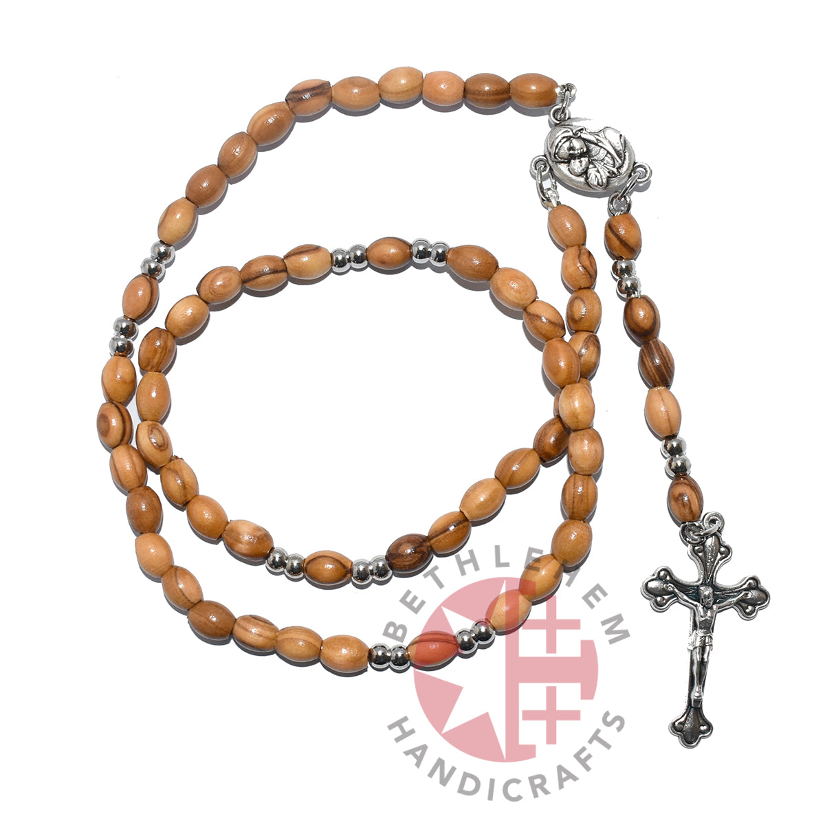 Olive Wood Rosary with Soil Special Edition