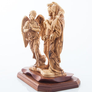 Hand Carved Wooden The Baptism of Jesus - Statuettes - Bethlehem Handicrafts