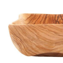 Teak Square Olive Wood Bowls (Set of 3) - Home & Office - Bethlehem Handicrafts