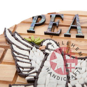 Peace Dove Hand Carved Olive Wood Plaque - Wall Hangings - Bethlehem Handicrafts