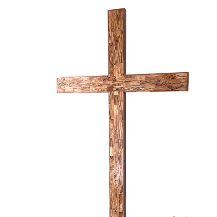 Large Olive Wood Cross with Standing Stepped Base - Specialty - Bethlehem Handicrafts