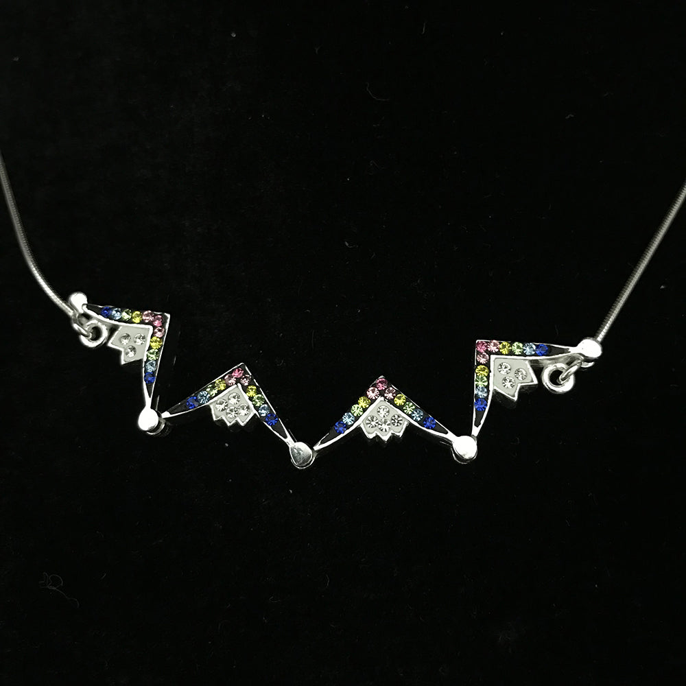 Two-Way Magnetic Star of Bethlehem Necklace (Colorful Gemstones) - Jewelry - Bethlehem Handicrafts