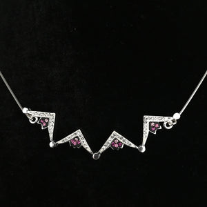 Two-Way Magnetic Star of Bethlehem Necklace (Pink Gemstones) - Jewelry - Bethlehem Handicrafts