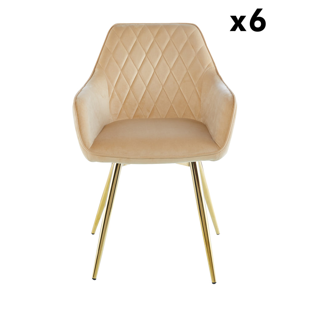 Bundle of 6pcs Leon Cream - Chair - VANITY LIVING