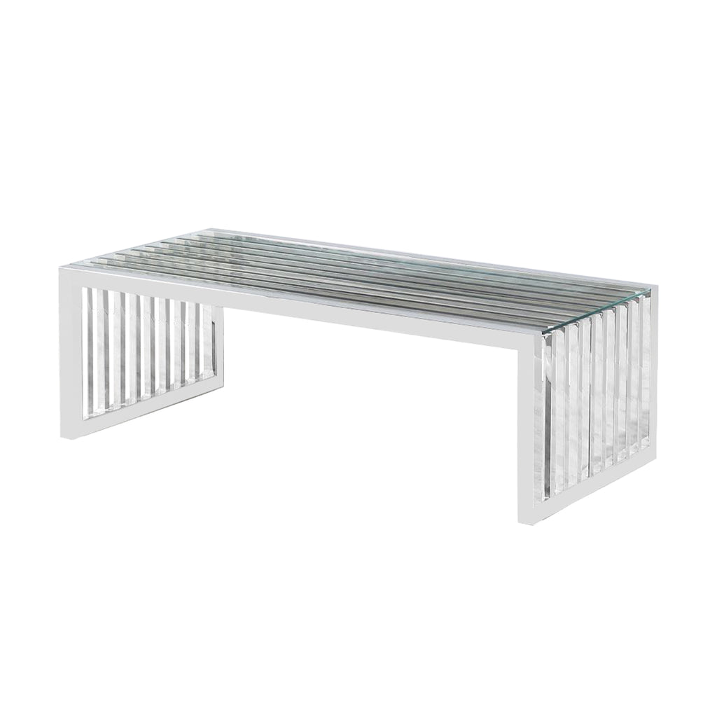 Vigo Chrome - Coffee Table - VANITY LIVING