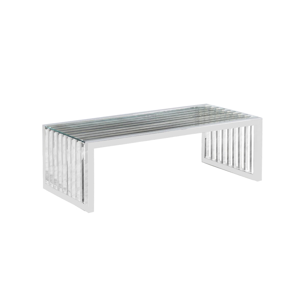 Vigo Chrome - 2pcs Side Table + Coffee Table + Console Table - VANITY LIVING