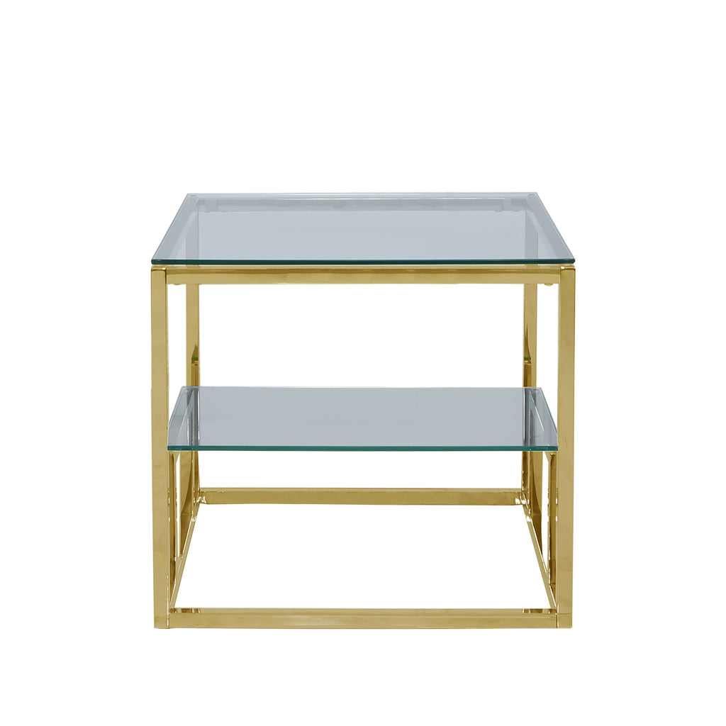 Valencia 2-Tier Gold - Side Tables - VANITY LIVING
