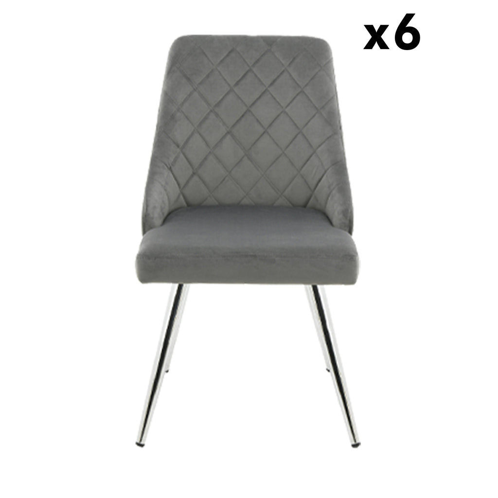 Bundle of 6pcs Milan Grey - Dining Chair - VANITY LIVING