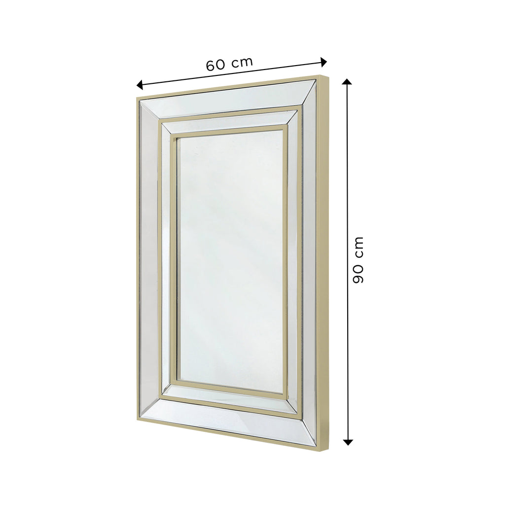 Treviso Gold - Wall Mirror - VANITY LIVING