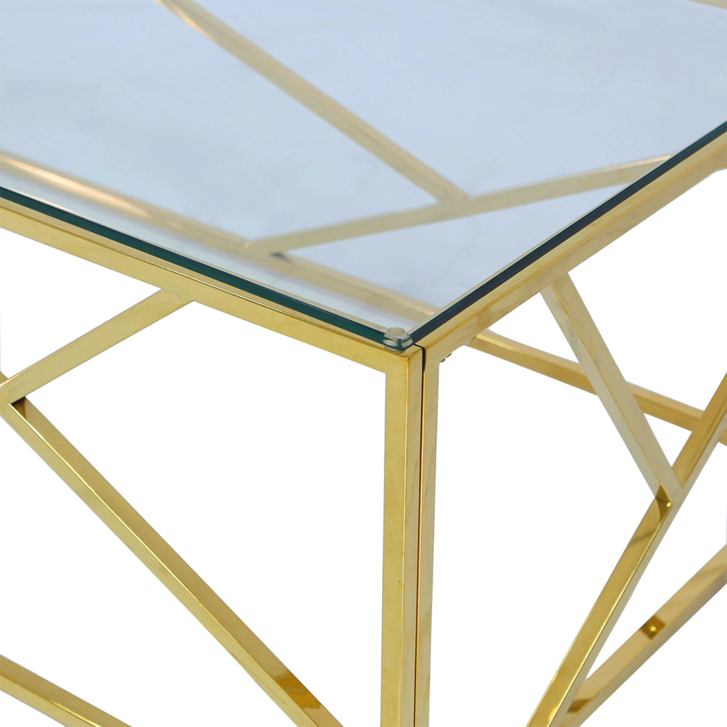 Roma Gold  - 2 Side Tables + Coffee Tables - VANITY LIVING