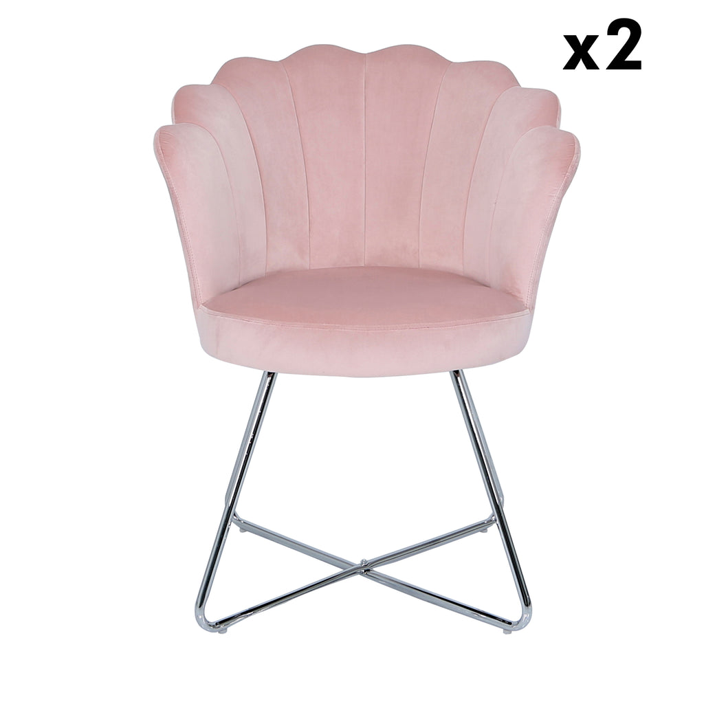 Bundle of 2pcs Venice Pink - Shell Chair - VANITY LIVING