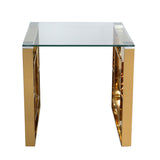 Verona - 2 Gold Side Tables