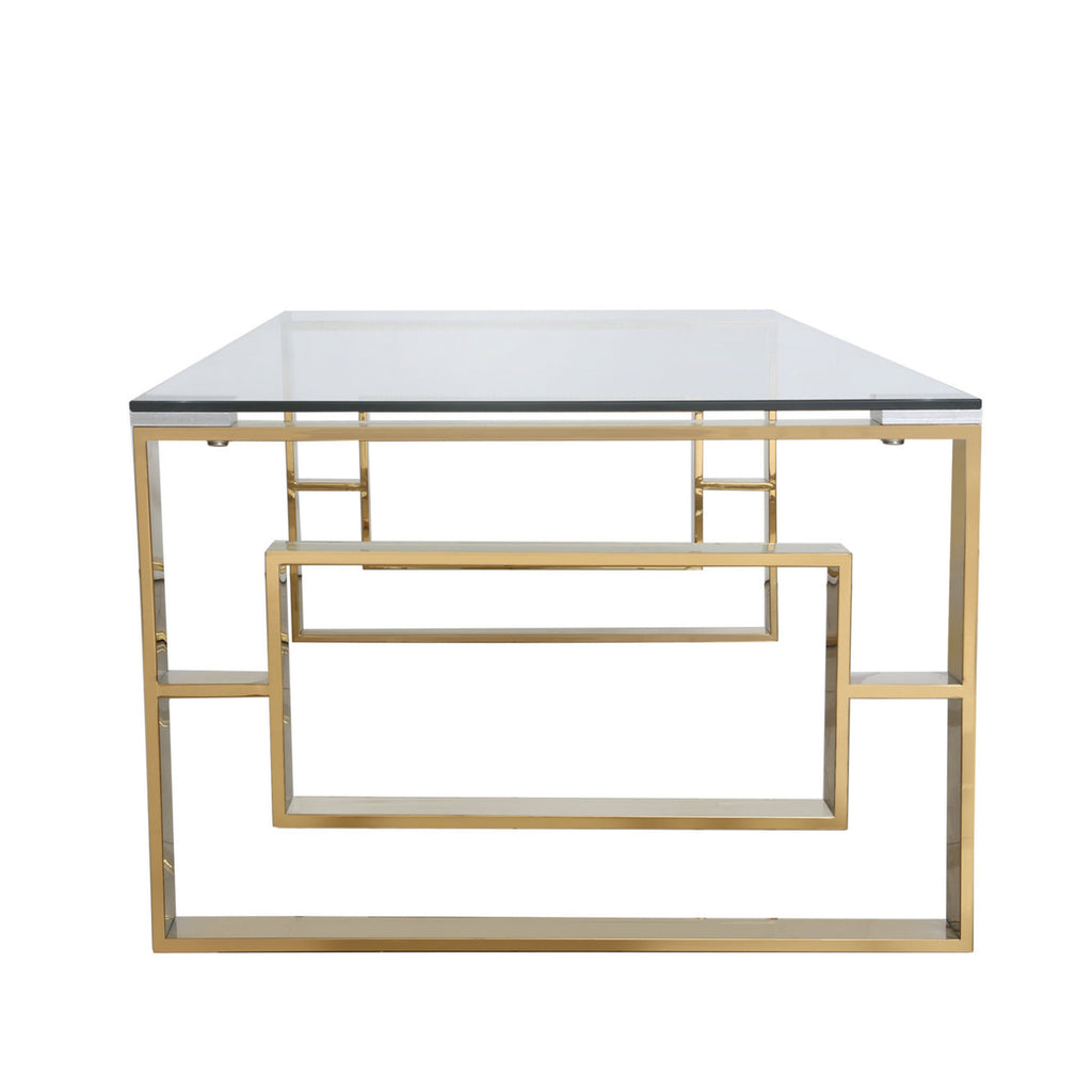 Verona Gold - 2 Side Tables + Coffee Table + Console Table - VANITY LIVING