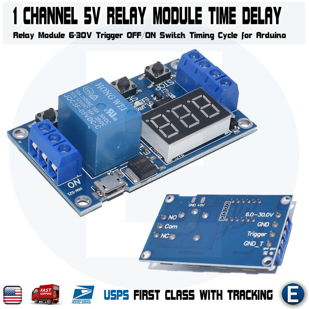 1 Channel 5V Relay Module Time Delay Relay Module Trigger Switch Timing Cycle - eElectronicParts
