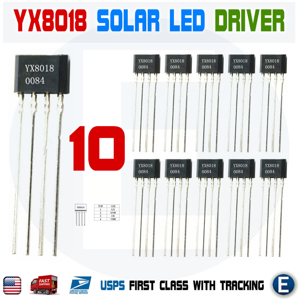 10PCS YX8018 LED Solar Boost Driver IC TO-94 USA Stock - eElectronicParts
