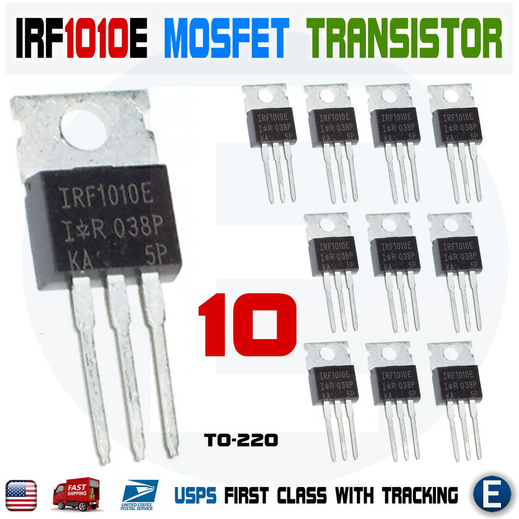 10pcs IRF1010E IRF1010 60V 84A Single N-Channel HEXFET Power MOSFET TO-220