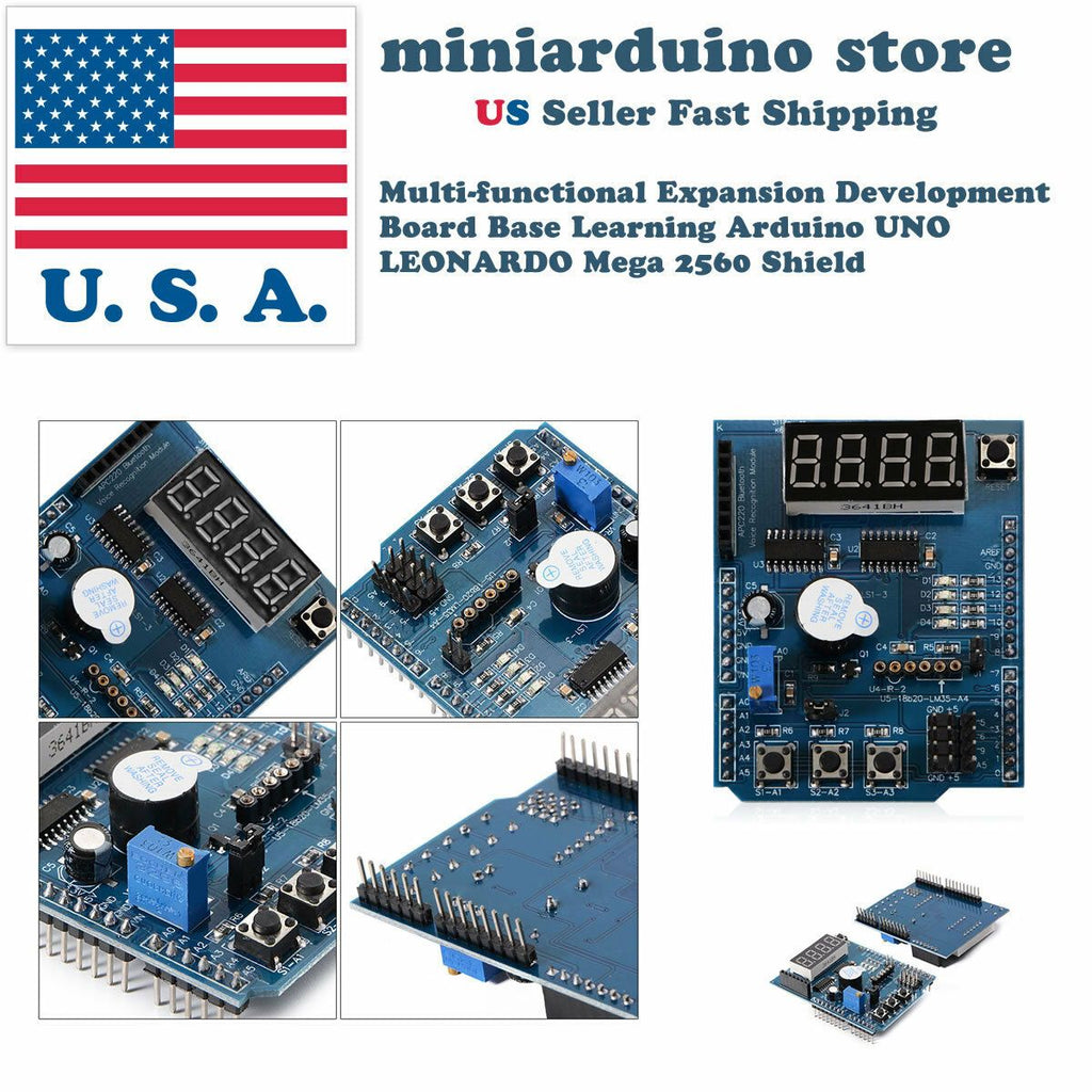 Multi-functional Expansion Development Board Base Learning Arduino UNO MEGA2560 - eElectronicParts