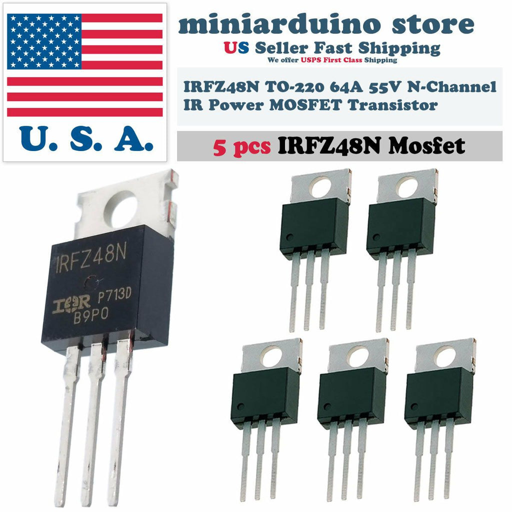 5pcs IRFZ48N IRFZ48 MOSFET Power Transistor Fast Switching HEXFET 64A 55V TO-220 - eElectronicParts