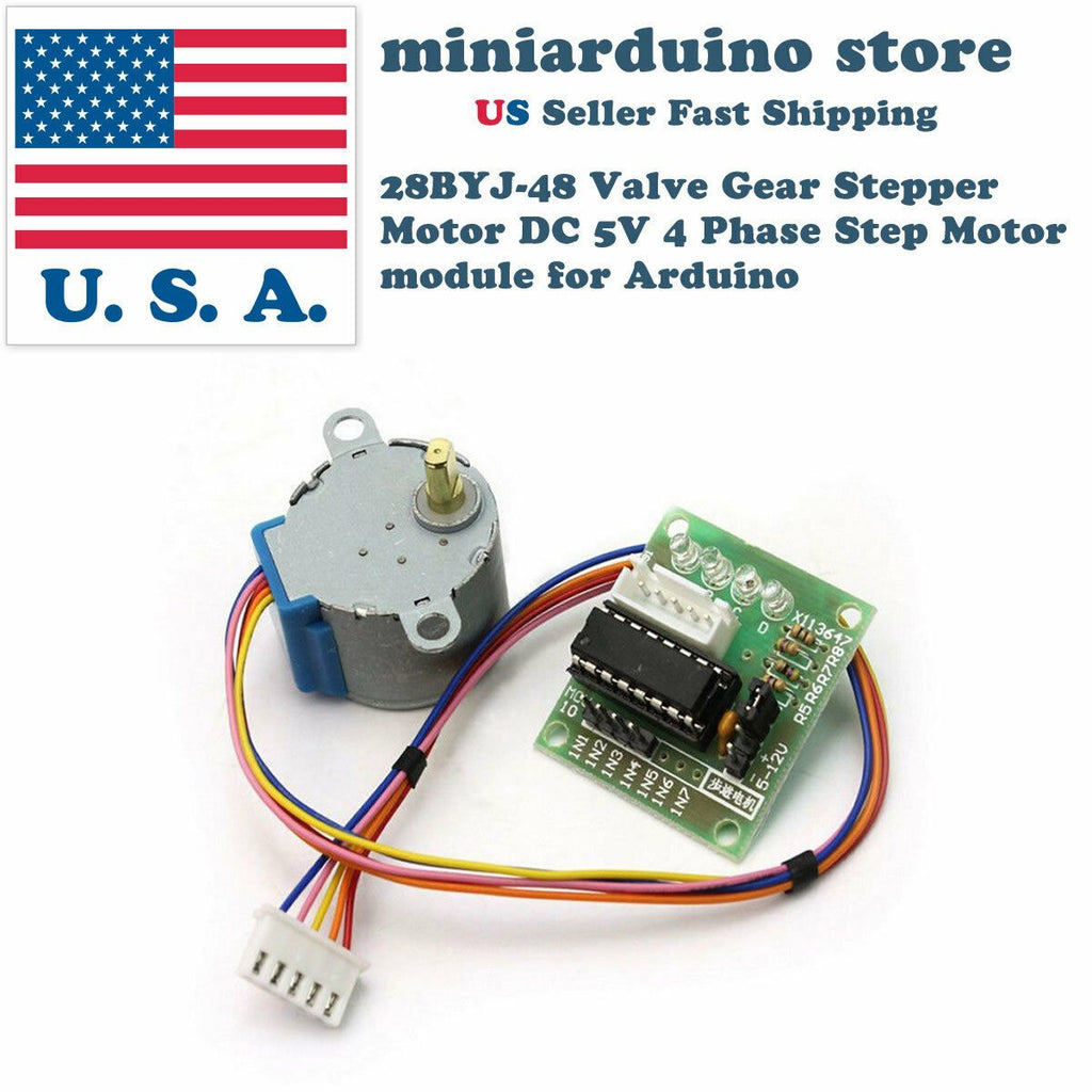 2pcs 28BYJ-48 Valve Gear Stepper Motor DC 5V 4 Phase Step Motor module Arduino - eElectronicParts